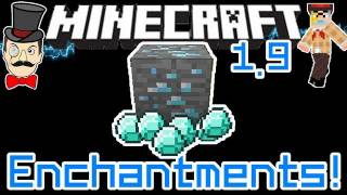 Minecraft 1.9 SPECIAL ENCHANTMENTS ! Fortune Double Diamond Drops & Underwater Breathing !