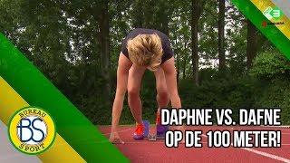 Voetbalster Daphne Koster loopt 100m tegen Dafne Schippers!