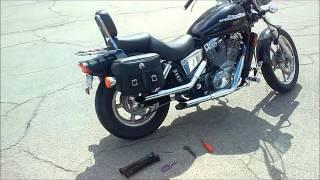 Honda Shadow 1100 Cobra Drag Pipes - Baffles vs Straight (SOUND/TONE)