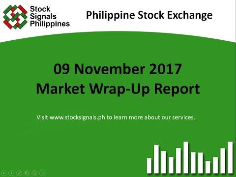 Market Wrap-Up Report - Philippine Stock Exchange - 9 November 2017