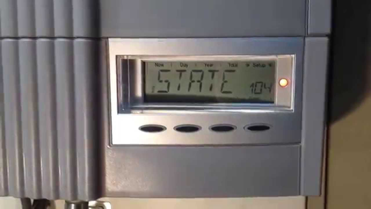 State 104 And State 101 Errors On Fronius Inverters Youtube