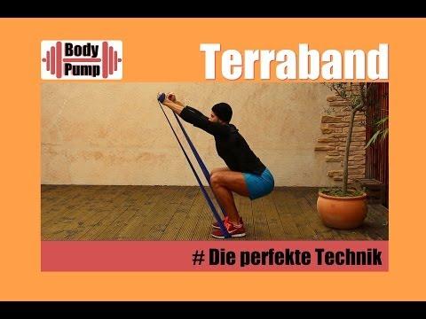 Thera - Band Übungen - Gummiband Workout - Training zum Stabilisieren - Gelenkschonend