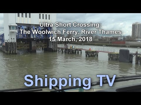 Ultra short ferry crossing - the Woolwich ferry, River Thames.