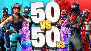 Fortnite 50 vs 50 V3 Game Mode! (Fortnite Battle Royale)