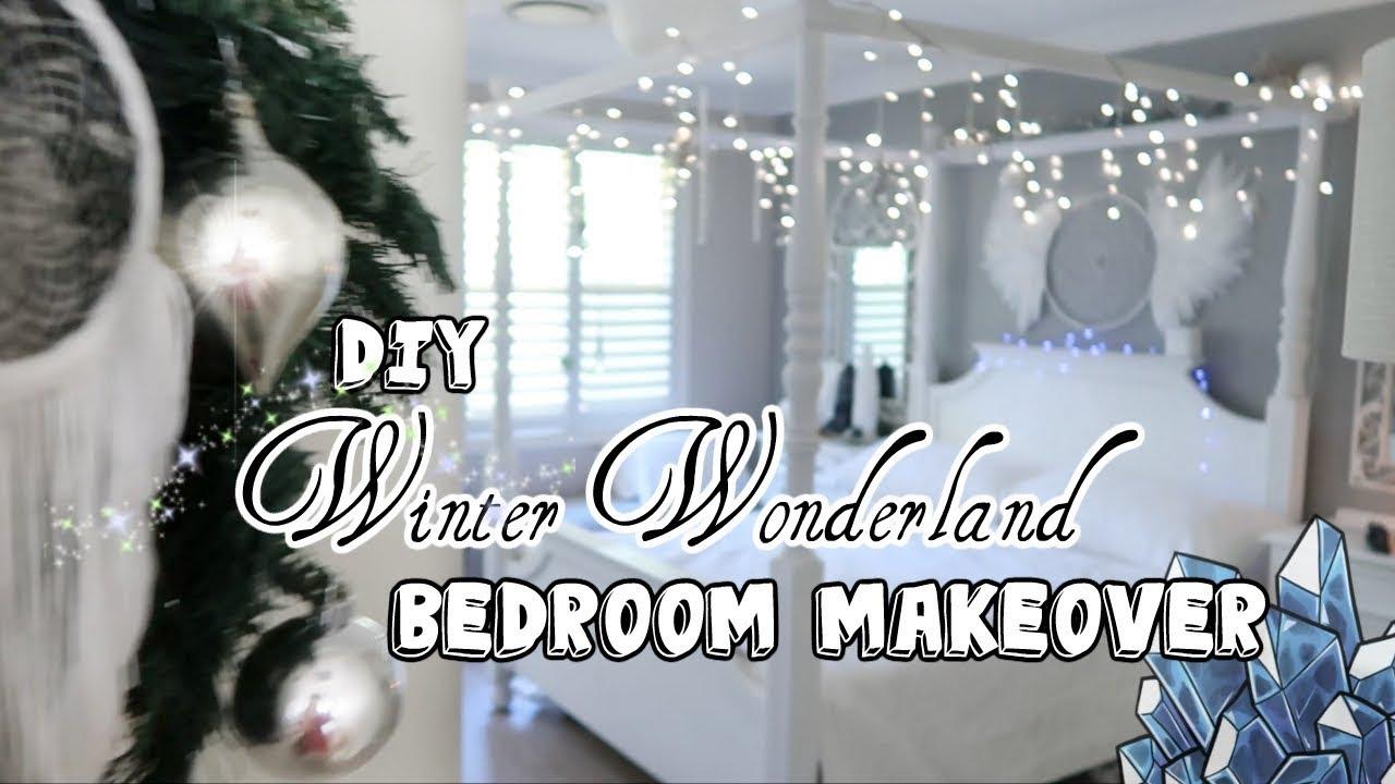 Turning My Room Into A Winter Wonderland Vlogmas Youtube
