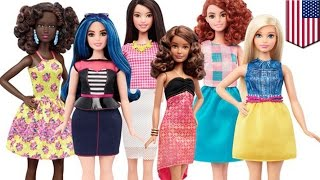The new fat Barbie doll: Mattel releases new body types: petite, tall, and curvy - TomoNews