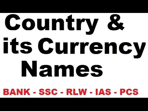 country and currency name pdf