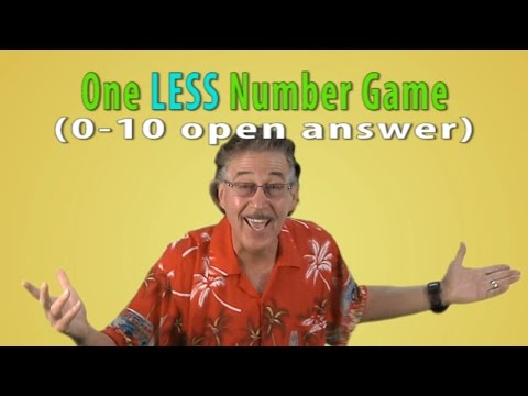 Number Song | Counting Song | One LESS Number Game 0-10 Open Answer | Jack Hartmann