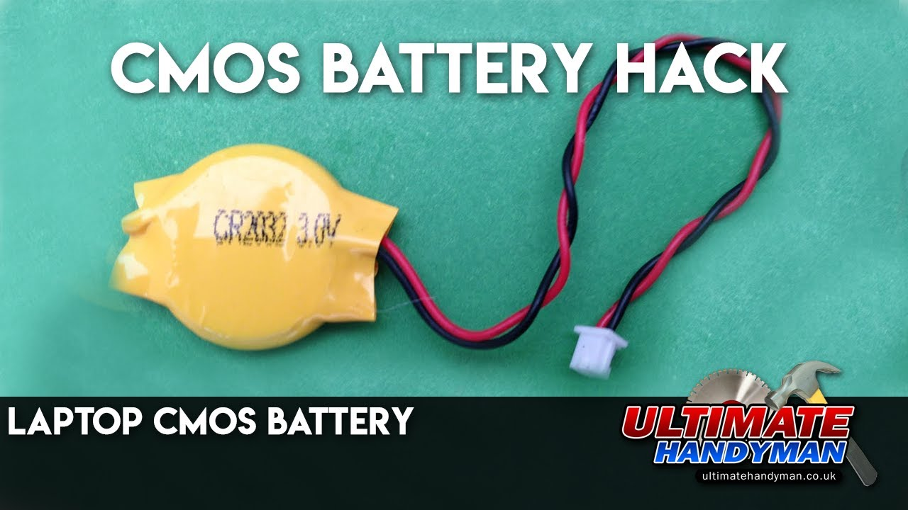 CMOS battery hack | Laptop CMOS battery - YouTube