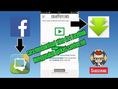 Cara mendownload video dari Facebook menggunakan aplikasi savefrom