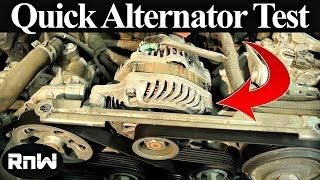 How to Test an Alternator - Diagnose Charging Issues