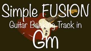 Simple Fusion Guitar Backing Track in Gm