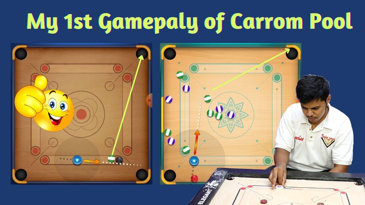 Carrom Pool Trick Shots 🔥   My 1st Game Play on Carrom Pool🔥  