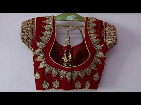 Bridal Lehenga Blouse Back Neck Design Embroidery Blouse Design Cutting And Stitching Youtube