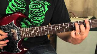 Black Sabbath Guitar Lesson - How to Play Sweet Leaf - Ozzy - Iommi - Gibson SG