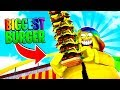 I ate the BIGGEST BURGER IN THE WORLD.. *TOO FAT* (Roblox)