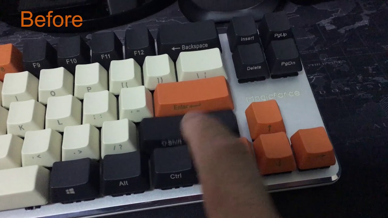Magicforce 68 Stabilizer Lubricant Compare (Before & After)