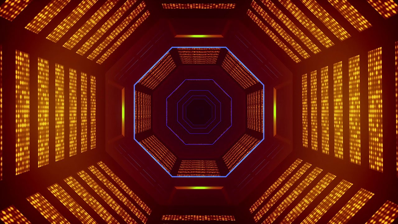 4K Abstract Sci-Fi Tunnel VJ Motion Background || Neon Light Tunnel Free VJ Loops || 4K VJ Loops