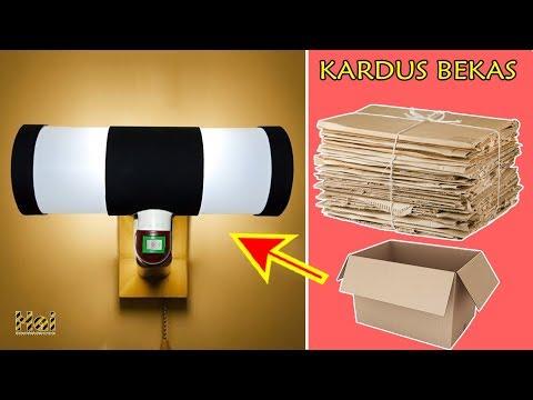 Tutorial Cara Membuat Lampu Tidur dari Kardus Bekas | Mudah - Murah.