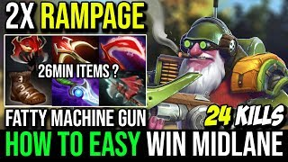 Sccc [Sniper] This is How to EZ Win Mid Double Fountain RAMPAGE 24KIlls 7.20c | Dota 2 Full Game