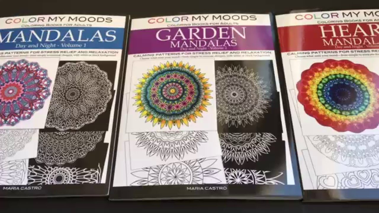 1 Coloring Books For Adults Day And Night Mandalas
