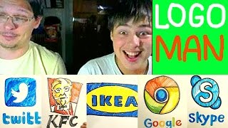 LOGO MAN - google, kfc, ikea, twitter, skype,