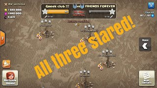 All villages 3stared! | Clash of Clans Greek