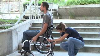 Craig Hospital Wheelchair Skills: Two Person Assist Going Up and Down Stairs