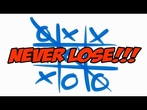 How to Never Lose at Tic Tac Toe - Part 1 (Corner Game)