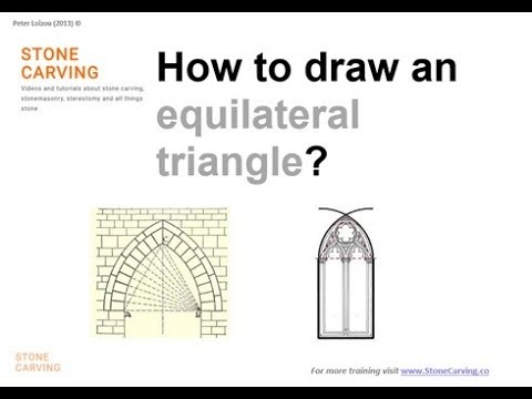 StoneCarving co Video – How to draw an equilateral triangle