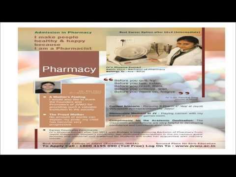 Admission in Pharmacy www.jvwu.ac.in