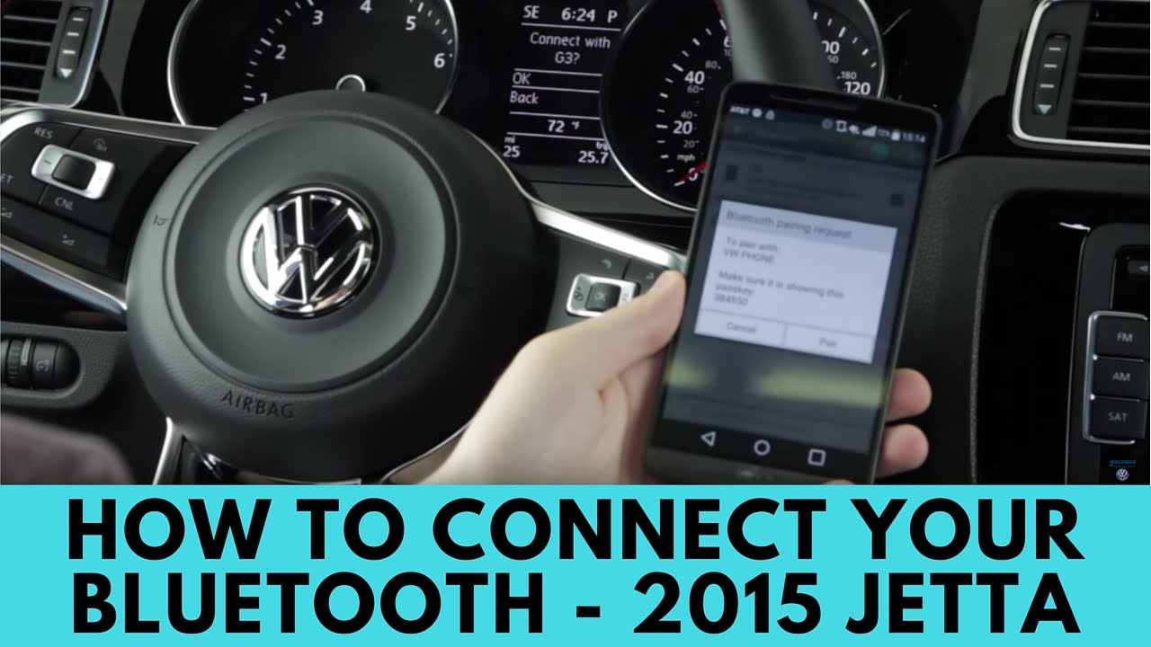 2015 volkswagen jetta: how to connect bluetooth - youtube