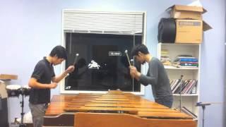 Performers: Shimon Fukasaku & Digno Iglesias This is our marimba du...