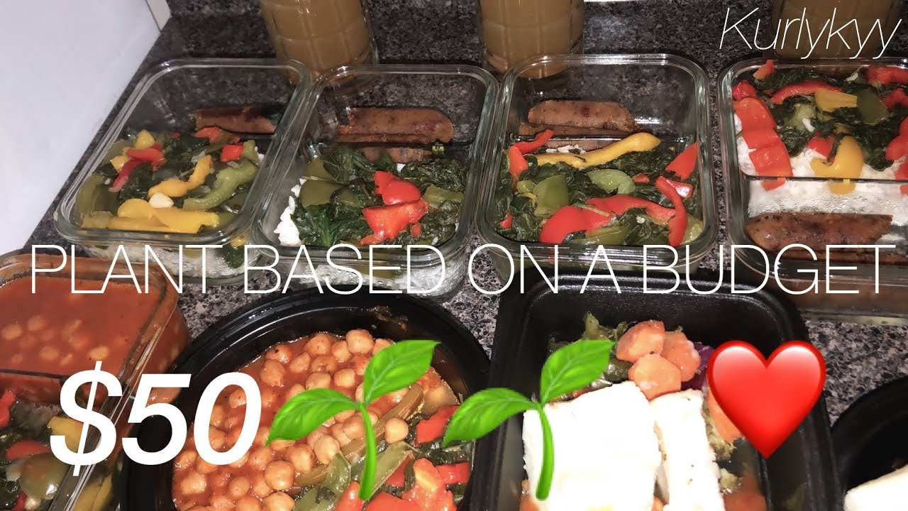 Easy Quick Meal Prep: Plant Based On a Budget for Beginners |  Kurlykyy