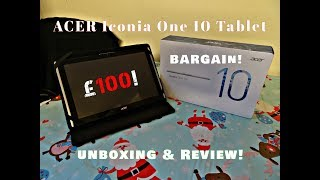 Acer Iconia one10 Unboxing and Review