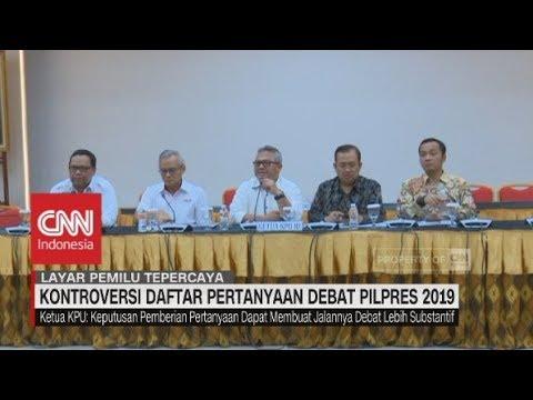 Kontroversi Daftar Pertanyaan Debat Pilpres 2019