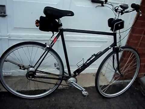 Sturmey Archer 8 speed wide range on a utility bike.
