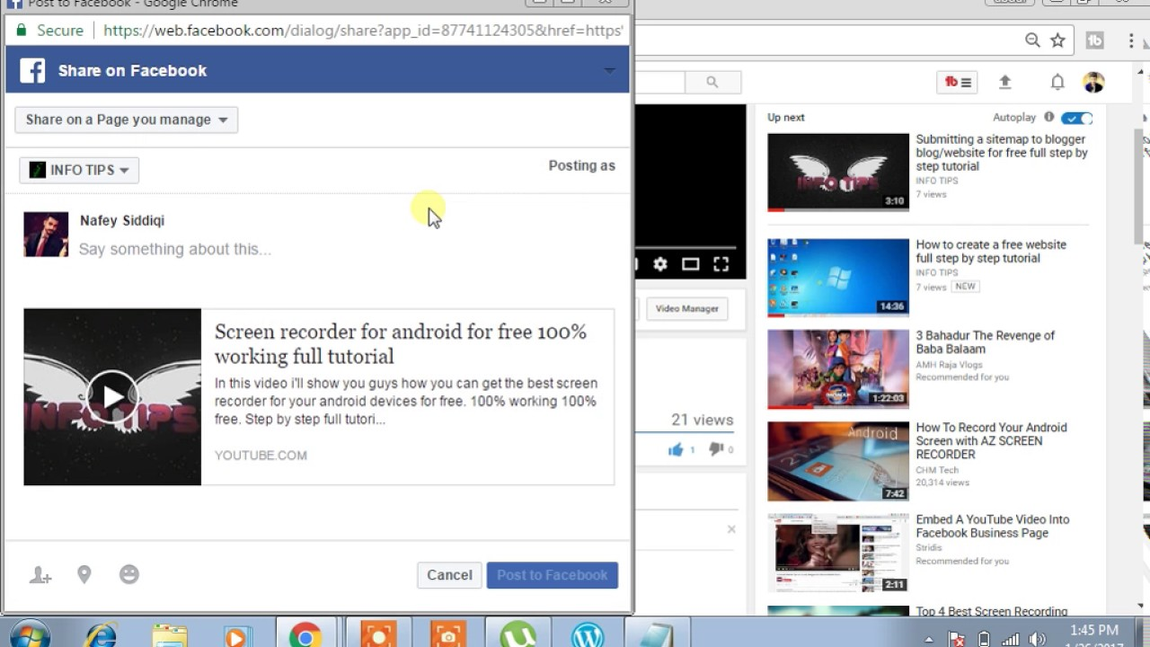 How To Embed Youtube Videos On Facebook For Free Youtube