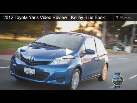 2012 Toyota Yaris Review   Kelley Blue Book
