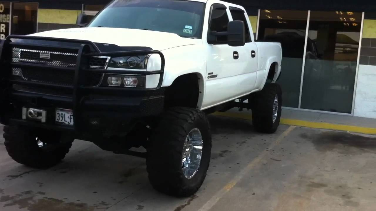 Lifted Duramax On 38 S Youtube