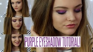 PURPLE EYESHADOW TUTORIAL! | BeautySpectrum