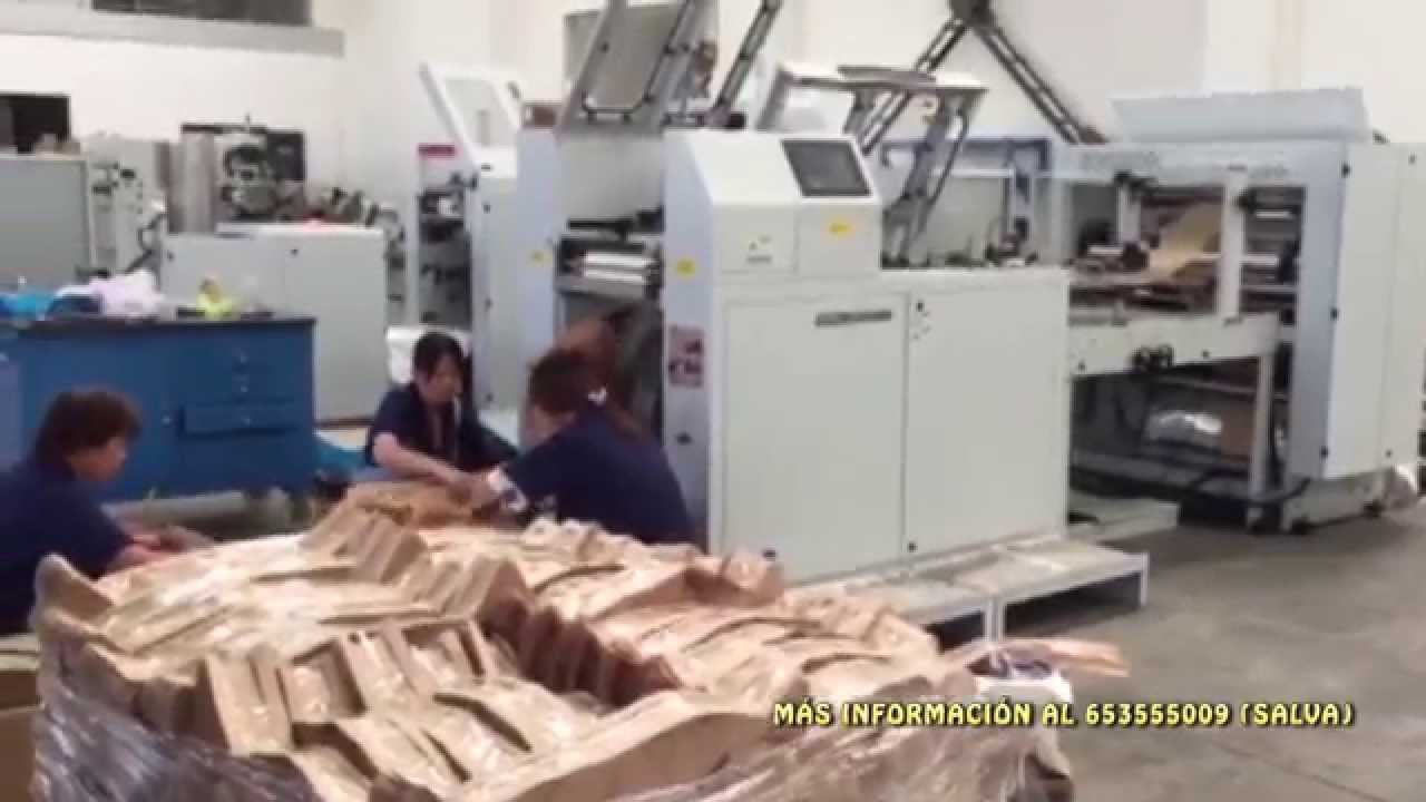 maquina para hacer bolsas de papel pan y bolleria alta