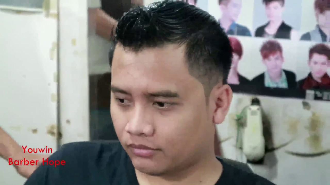 METODE DASAR POTONG RAMBUT MODEL MOHAWK - YouTube