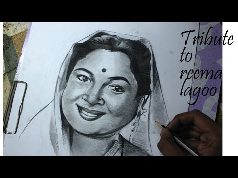 Tribute to Reema Lagoo by my drawing