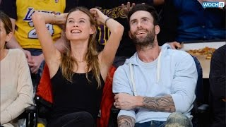 adam levine and behati prinsloo pack on the pda at l a lakers game