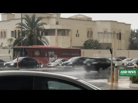 Rain, thunder, and hail in Jeddah