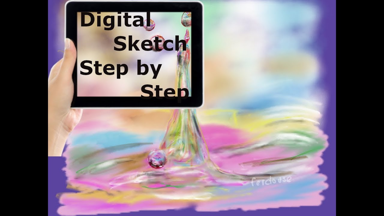 Digital Art Draw Colorful Water Droplets Daily Drawing Challenge