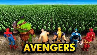 THE AVENGERS vs 20,000 ZOMBIES (Ultimate Epic Battle Simulator Funny Gameplay)
