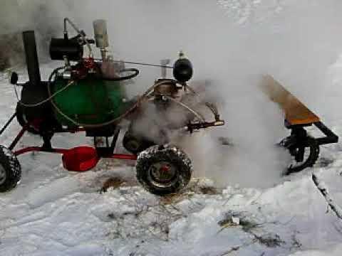 Как работает паровая машина на морозе