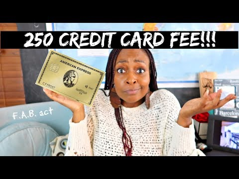 Is A $250 Credit Card Fee Worth It? American Express Gold Card